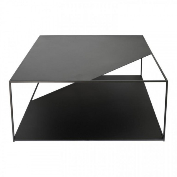 Sofatisch Stahl schwarz 80x80