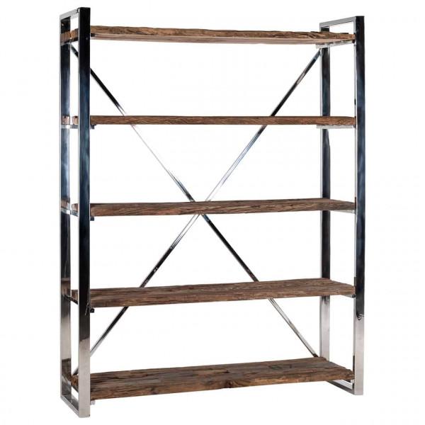 Loft Bücherregal Edelstahl Holz Kensington