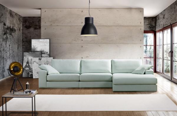 Primavera Alberta Sofa mit Longchair (1max + 1max + Divan rechts)