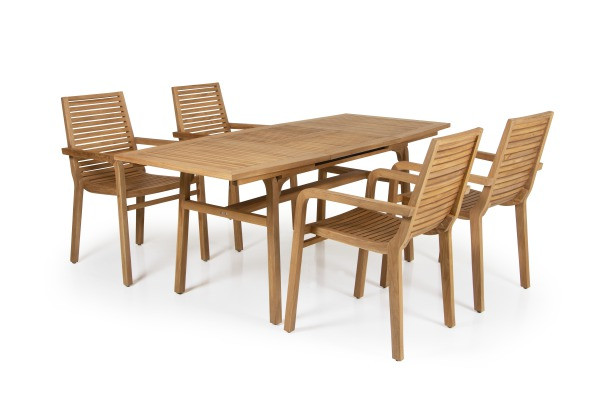Brafab Volos Garten Esstisch mit Stühlen Volos