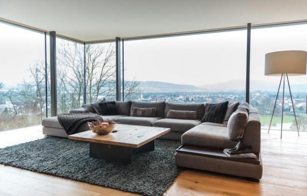 Furninova Cartago, U-Sofa: CHL XL wide + 1,5 Mod + 1,5 Mod + C + 1,5 Holztablett