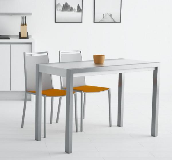 Schmaler Küchentisch ausziehbar Concept Minor, Glas Weiß