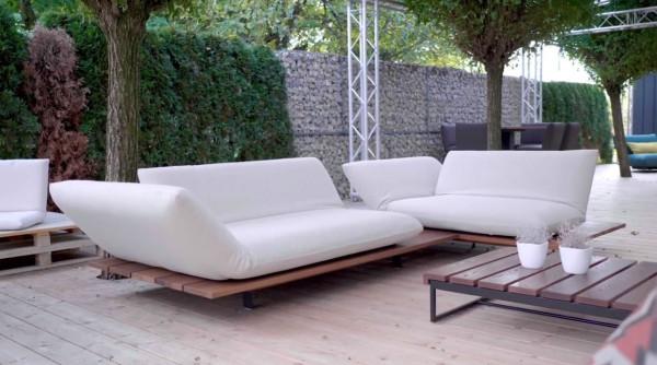Bullfrog Sofa für Garten Akito 2x 2,5 Sitzer AT li