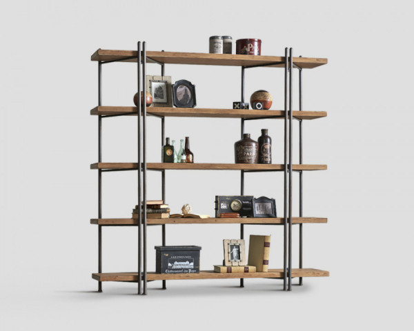 Bücherregal Altholz Stahl von Dialma Brown